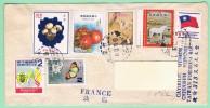 OM1. Lettre Taiwan Formose Pour La France. TP=  Champignons Tomates Cheval Papillon Montons. Chutung 19.12.78 - Briefe U. Dokumente