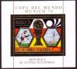 Guinea 1974 World Cup Soccer - Perf - Gold Sheet  - Unusual - Coppa Del Mondo
