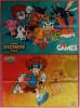 2 X Kids Games Poster Mit Digital Digimon Monsters / Kids Zone  -  Von Ca. 2002 - Merchandising