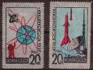 JOURNEE DE LA COSMONAUTIQUE 1965 - NEUFS ** - YT 2953/54 - MI 3042/43 - TIMBRES ARGENT - 1923-1991 USSR