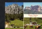 P1764 DOLOMITI - PASSO DURAN - PANORAMA CON RIFUGIO ( HUTTE ) E AUTO CARS VOITURES - ANNULLO 197? - Italia