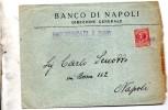 1928  LETTERA INTESTATA BANCO DI NAPOLI RACCOMANDATA A MANO - Poststempel