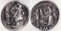 EGNATULIA   *  Quinaire     Rome    (- 97 Av J C  )  Rare - 1. Republiek (280 BC Tot 27 BC)