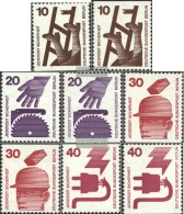 Berlin (West) 403C,D,404C,D,406C,D, 407C,D (complete Issue) Unmounted Mint / Never Hinged 1971 Accident Prevention - Unused Stamps