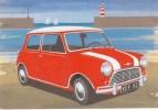 Postcard - Red Mini & Lighthouse. A - Turismo