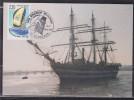 = Les Grands Voiliers AP PTT Aquitaine Cutty Sark Bordeaux 20-21.7.90 Dans Le Port N°2648 Course Autour Du Monde - Commemorative Postmarks