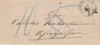 LAC De HOCHFELDEN Du 5.2.1875 Adressée à Wingersheim, Taxée D´abord 5, Ensuite 10 - Elsass-Lothringen