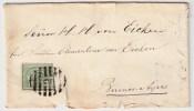Uruguay, Ca. 1870, 10 C. Grün, Brief, R!   , #3526 - Uruguay