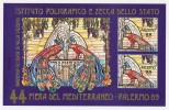 """PALERMO FOLDER + FOGLIETTO TIRATURA BASSA 44´ FIERA DEL MEDITERRANEO """" BAGHERIA VILLA SALERNO """" 1989 - Erinnofilia"""