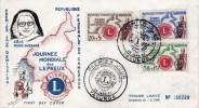 YAOUNDE  - 3 TIMBRES SUR  JOURNEE MONDIALE DES LEPREUX   OBLITERATION 1ER JOUR 28 JANVIER 1962 - Afrika