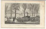 Incisione In Acciaio Del 1859 Attacco Al Vapore Radetzky Sul Lago Maggiore Tra Le Isole Borromee  Stresa E Pallanza. - Stampe & Incisioni