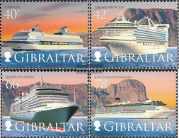 Gibraltar 1285-1288 (complete Issue) Unmounted Mint / Never Hinged 2008 Kreuzfahrtschiffe - Gibraltar