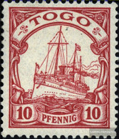 Togo (German. Colony) 9 With Hinge 1900 Ship Imperial Yacht Hohenzollern - Colony: Togo