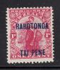 Cook Islands MH Scott #49 Rarotonga Overprint On NZ 1p 'Commerce' - Cook