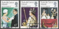 Turks & Caicos Islands. 1977 Silver Jubilee. Used Complete Set. SG 472-474 - Turks And Caicos