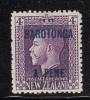 Cook Islands MH Scott #55 Rarotonga Overprint On NZ 3p George V Perf 14 X 14.5 - Cook