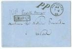 """L. C�d BRUXELLES/1860 + PP +CHARGE + """"Paquet charg�"""" """"1400"""" pour Anvers"""