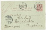CRETE - 1907 - CARTE ENTIER POSTAL TYPE MOUCHON De LA CANEE Pour MAGDEBURG (ALLEMAGNE)