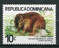 (cl. 5 - P.29) R. Dominicaine ** N° 361 (ref. Michel Au Dos)  -  Rongeur : Le Hutia  - - Dominicaine (République)