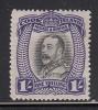 Cook Islands MH Scott #90 1sh King George V - No Wmk Perf 14 - Cook