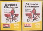 Allemagne 2008 Et 2009. Poste Locale Post Modern De Dresde. 2 Dentelures. Inventions Saxonnes. Factrice à Vélo - Vélo