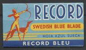 """Sweden, """"Record"""", Blue Blade. - Lames De Rasoir"""