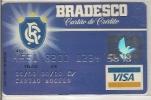 CC108 BRAZIL CARD BRADESCO VISA SPECIMEN/MODELO CR SOCCER SPORT  1980´S RARE - Geldkarten (Ablauf Min. 10 Jahre)