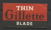 Gillette, Thin. - Lames De Rasoir