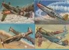 Avions-Les Chasseurs De La Seconde Guerre Mondiale.-10 Cartes-Dessins Francis Bergèse - 1939-1945: 2a Guerra