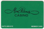 GREECE - Mont Parnes Athens, Casino Member Card, Used - Casino Cards