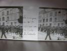 C1 SANNOIS PHOTO PLAQUE VERRE LA MUSIQUE DU 125 REGIMENT DEFILANT RUE DE PARIS  ANIMEE TOP.. - Diapositivas De Vidrio