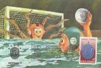 WATER POLO, UNIVERSIADE, UNIVERSITIES GAMES, CM, MAXICARD, CARTES MAXIMUM, 1981, ROMANIA - Waterpolo