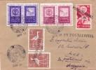 BV96 -  LABELS EXHIBITION PHILATELIQUE 1958 COVERS SENT TO MAIL WITH POSTALION, ROMANIA. - 1948-.... Republics