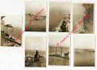 N°5-sept 1945-7 Photos-à Bord Du Porte-avions Le Béarn-arrivée à Malte - Guerre, Militaire