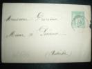LETTRE ENTIER SAGE 5C OBL. 24 DEC 97 SATILLIEU Pour Mr DESRIEUX, MAIRE à PREAUX (07 ARDECHE) - Postmark Collection (Covers)