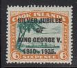 Cook Islands MH Scott #100 Silver Jubilee Overprint On 6p R.M.S. Monowai - Cook
