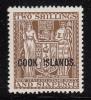 Cook Islands MH Scott #103 Cook Islands Overprint On NZ 2sh6p Coat Of Arms - Cook