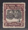Cook Islands MH Scott #113 2sh Village Scene, Palms - Wmk NZ, Star - Cook