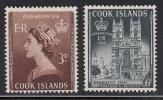 Cook Islands MH Scott #145-#146 Set Of 2 Coronation Of Elizabeth II - Cook