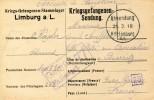 Guerre 14 18  Militaria KRIEGSGEFANGENENSENDUNG  PRISONNIER DE GUERRE Camp De LIMBURG Pour BIARRITZ.....G - Guerra 1914-18