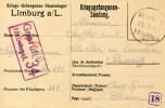 Guerre 14 18  Militaria KRIEGSGEFANGENENSENDUNG  PRISONNIER DE GUERRE Camp De LIMBURG Pour BIARRITZ ...G - Guerra 1914-18