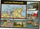 - LA COTE D EMERAUDE -- D APRES LA CARTE DU PNEU MICHELIN N° 59 -- NON ECRITE -- - France