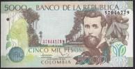 Colombia 5000 Pesos 2012 P452 UNC - Colombia