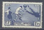 France YT N°396 Coupe Du Monde De Football 1938 Neuf/charnière * 2ND CHOIX - France