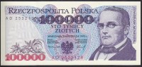 Poland 100000 Zlotych 1993 P160 UNC - Polonia