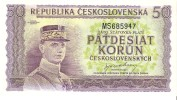 Czechoslovakia - Pick 62 - 50 Korun 1945 - Unc - Cecoslovacchia
