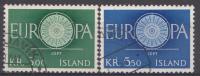 Islande 1960  Mi.nr: 343-344 Europe  Oblitérés / Used / Gest. - Gebraucht