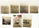 N°6-oct. 1945-7 Photos-à Bord Du Porte-avions Le Béarn-arrivée à Alexandrie-ravitaillement-régates-croiseur Le Quercy - Guerre, Militaire