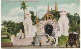 Burma Entrance Shwe Dagon Pagoda Rangoon Color  Edit Ahuja No 49 - Myanmar (Birma)