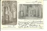 """Tournai - Cathédrale Comm""""moratif Des évèques Et Choeur Et Maître-Autel (Double Photo) - N°24 - Circulé: 1900 - Tournai"""